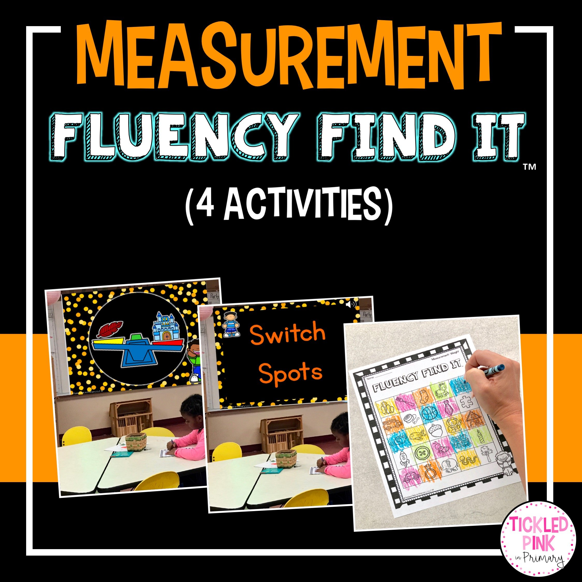 Measurement Fluency Find It Tickled Pink In Primary