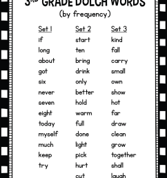 Dolch Third Grade Sight Words Fluency Find It • Tickled Pink in Primary [ 1399 x 1042 Pixel ]