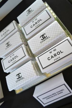 Chanel themed chocolates party