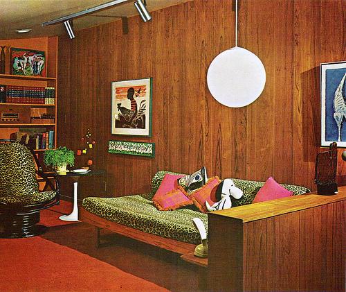 70s Living Room Tickle Me Vintage