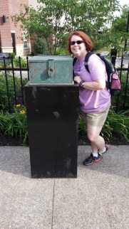 The author with the voting box