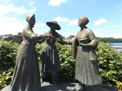 The First Meeting: Amelia Bloomer introduces Elizabeth Cady Stanton and Susan B. Anthony