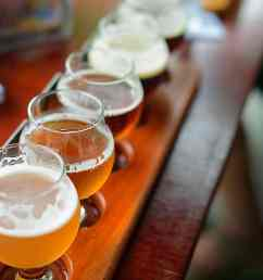a flight of beer samples sits on a table at costa rica s craft brewing company s brewpub la planta lindsay fendt the tico times  [ 1700 x 1146 Pixel ]