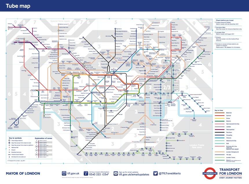 Plano Metro Londres / London subway