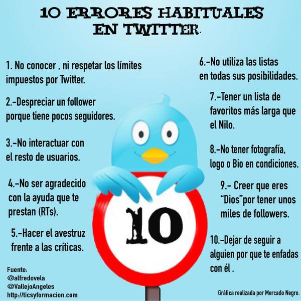 10 errores habituales en Twitter