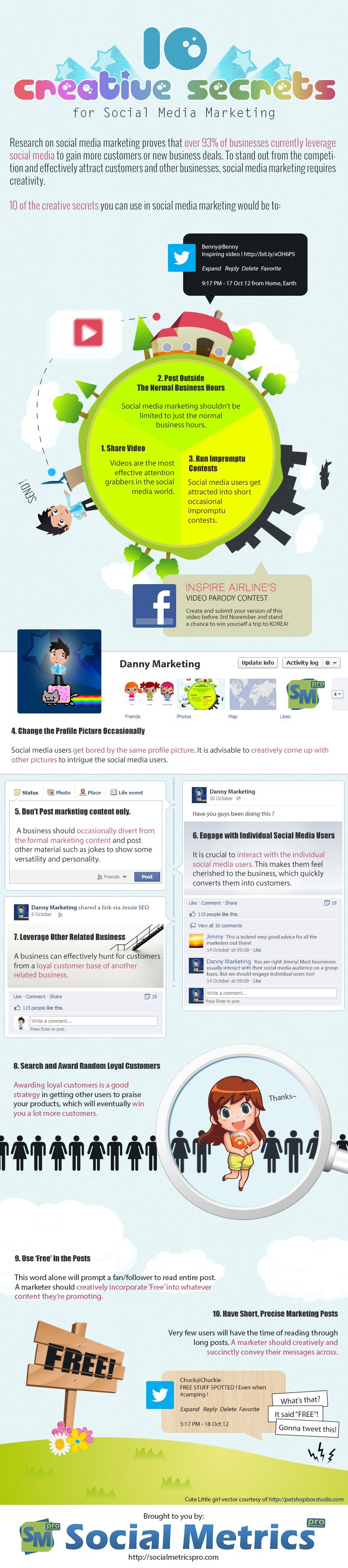 10 secretos creativos sobre Social Media Marketing