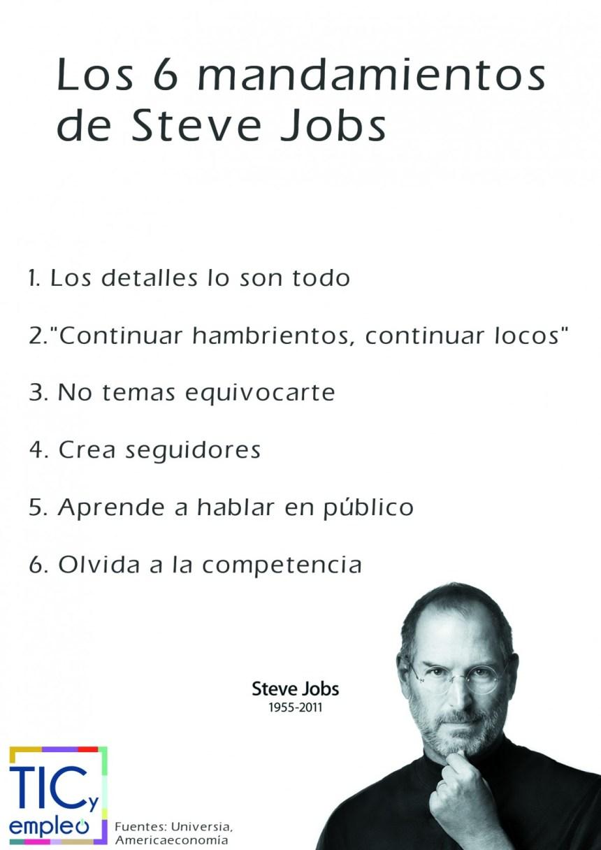 Los 6 mandamientos de Steve Jobs