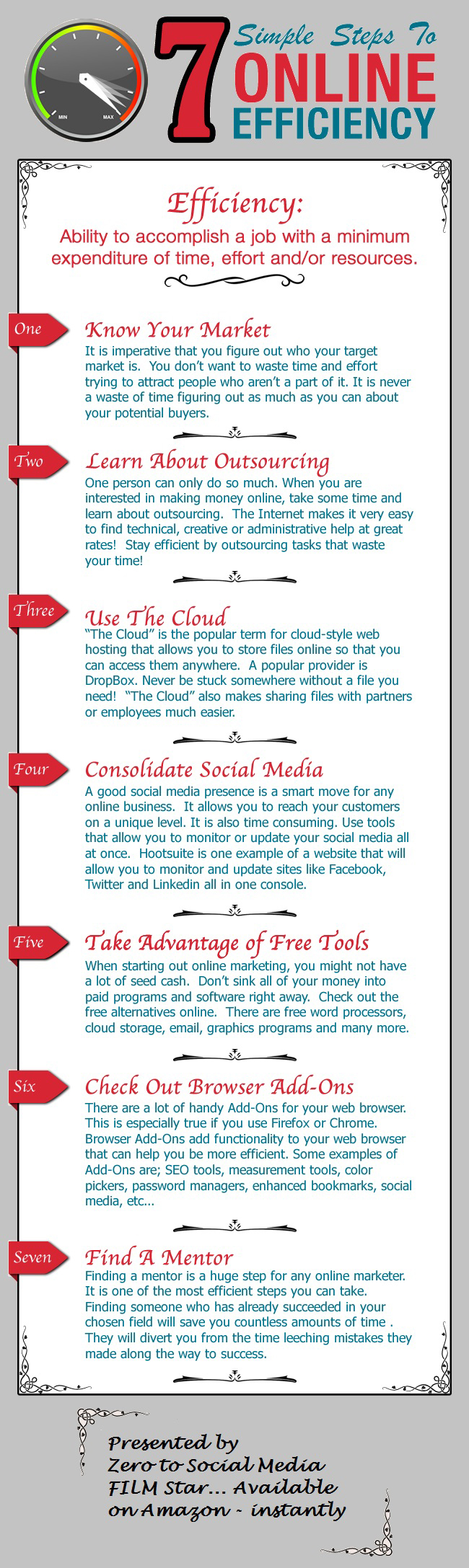 Mejora tu eficiencia online en 7 pasos