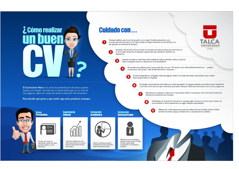 Como Hacer Un Buen Curriculum Vitae Infografia Infographic Empleo
