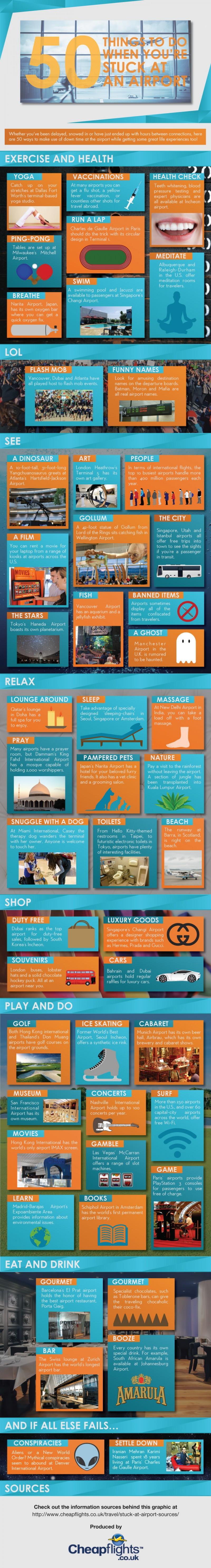 50 cosas para hacer si estás atrapado en un aeropuerto
