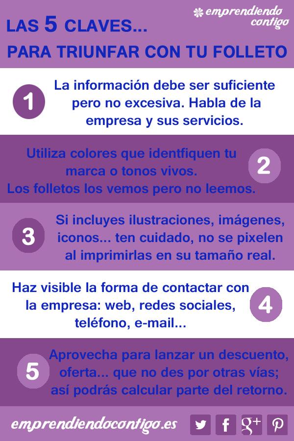 5 Claves para triunfar con un folleto #inforafia #infographic #marketing - TICs y Formación