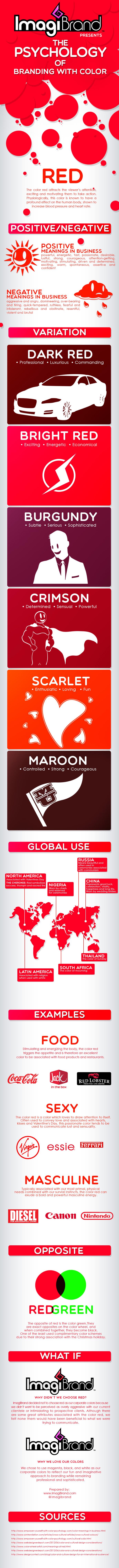 Branding de color rojo