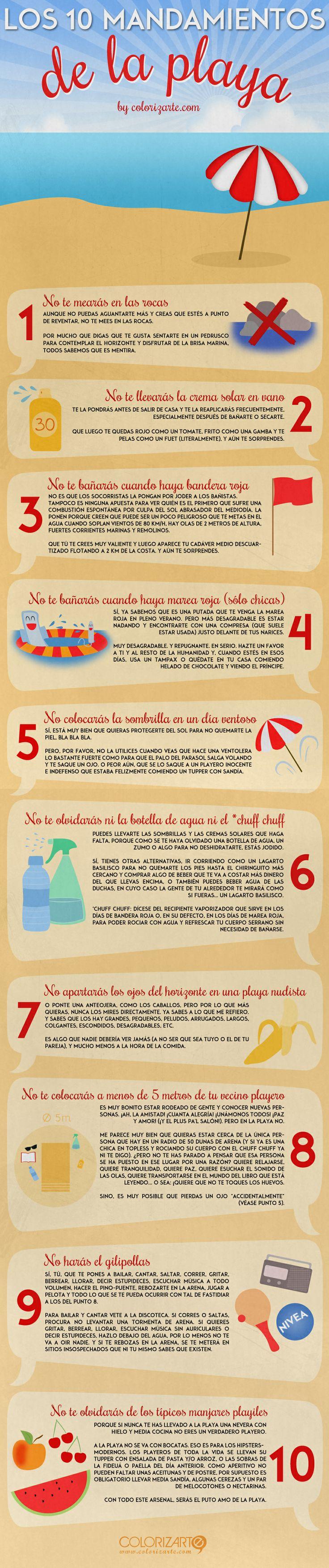 Los 10 mandamientos de la playa