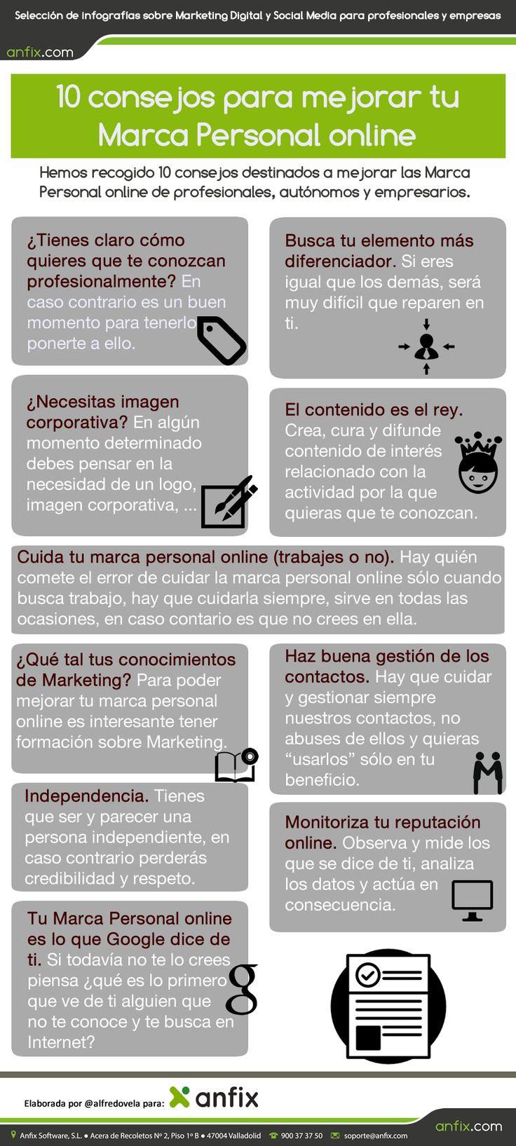 10 consejos para mejorar tu Marca Personal online