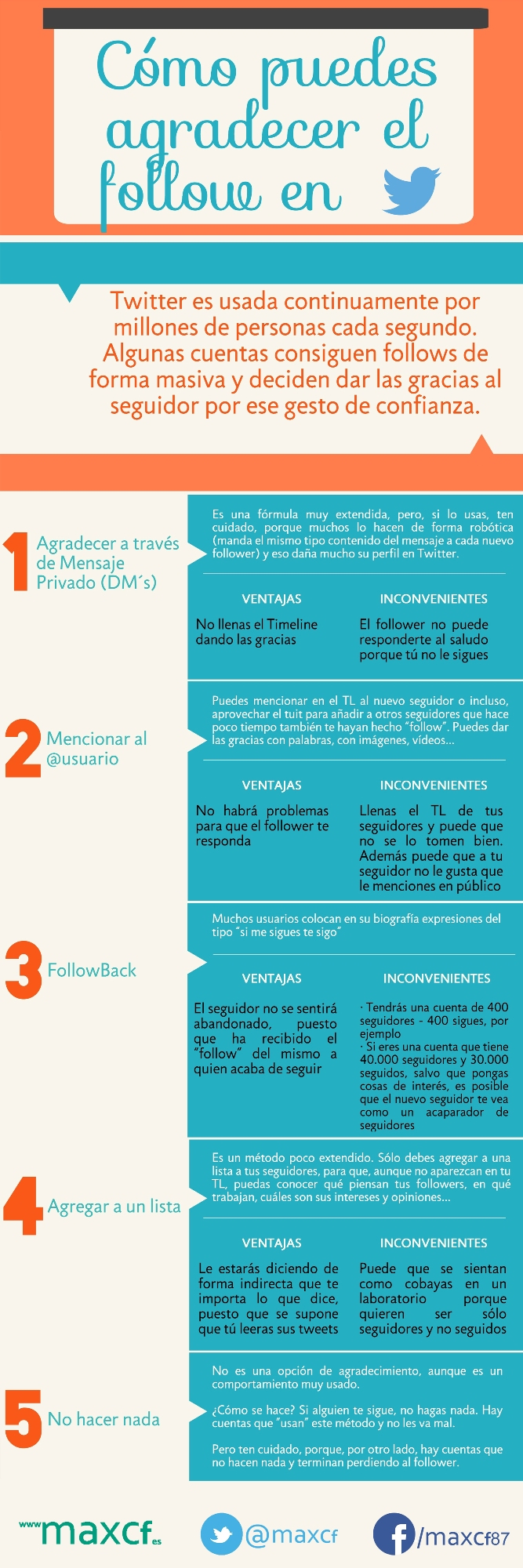 Cómo agradecer un follow en Twitter #infografia #infographic #socialmedia - TICs y Formación