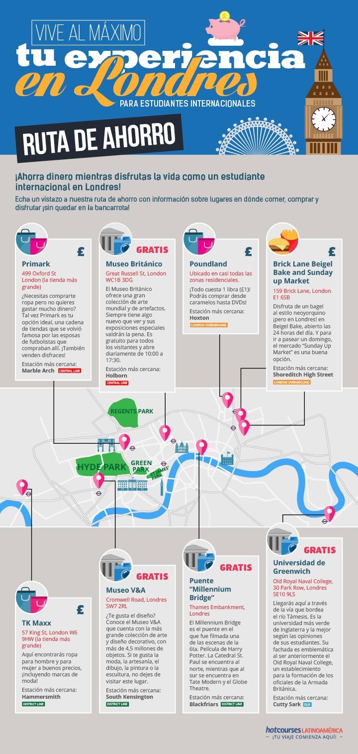 Ruta del ahorro para visitar Londres (estudiantes)