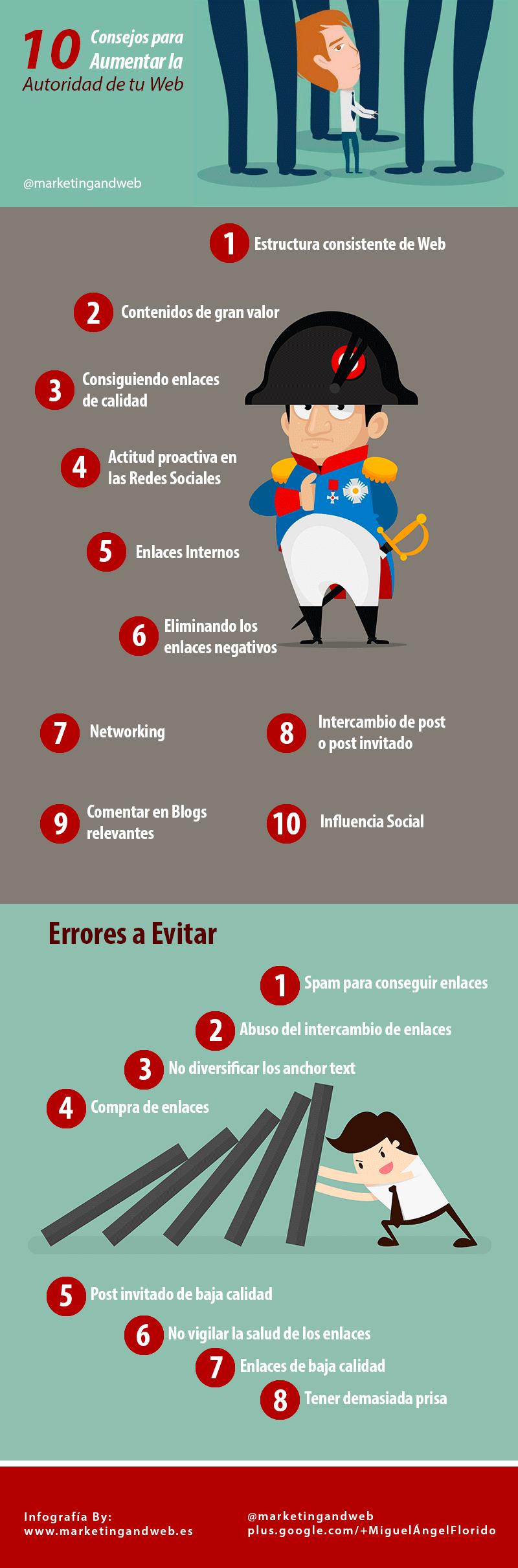 10 consejos para aumentar la autoridad de una web
