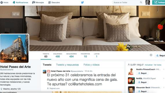 Lo que un hotel NO debe hacer con una cuenta de Twitter