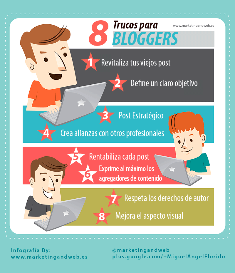 8 trucos para bloggers