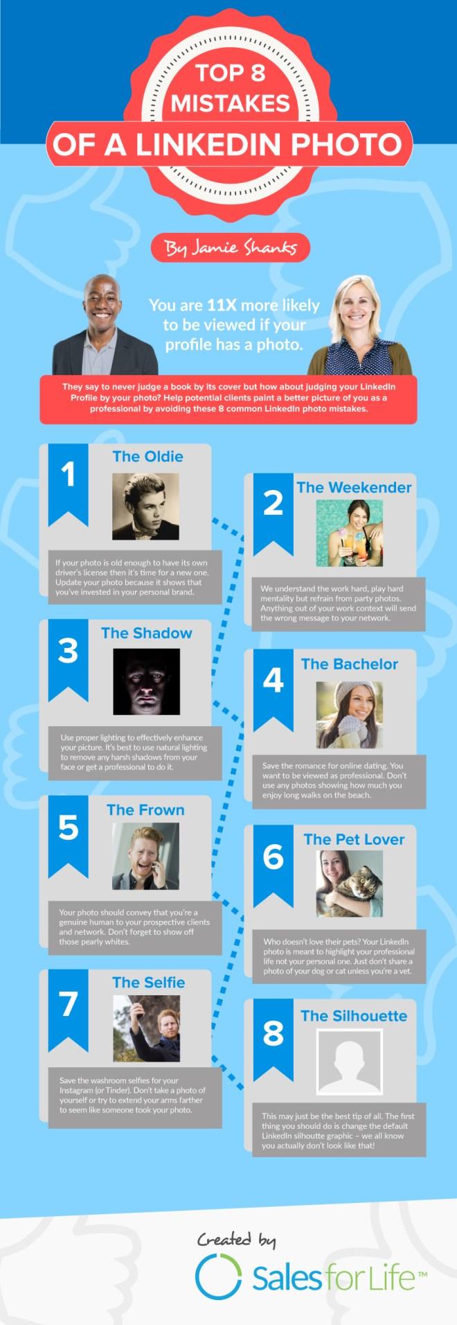 8 errores de la fotografía de tu perfil de Linkedin