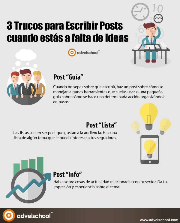 3 Trucos para escribir posts cuando estás a falta de Ideas