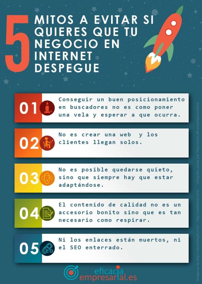 5 mitos a evitar si quieres que tu negocio en internet despegue