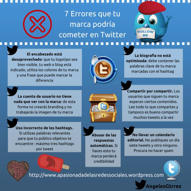 7 errores que tu marca podría cometer en Twitter