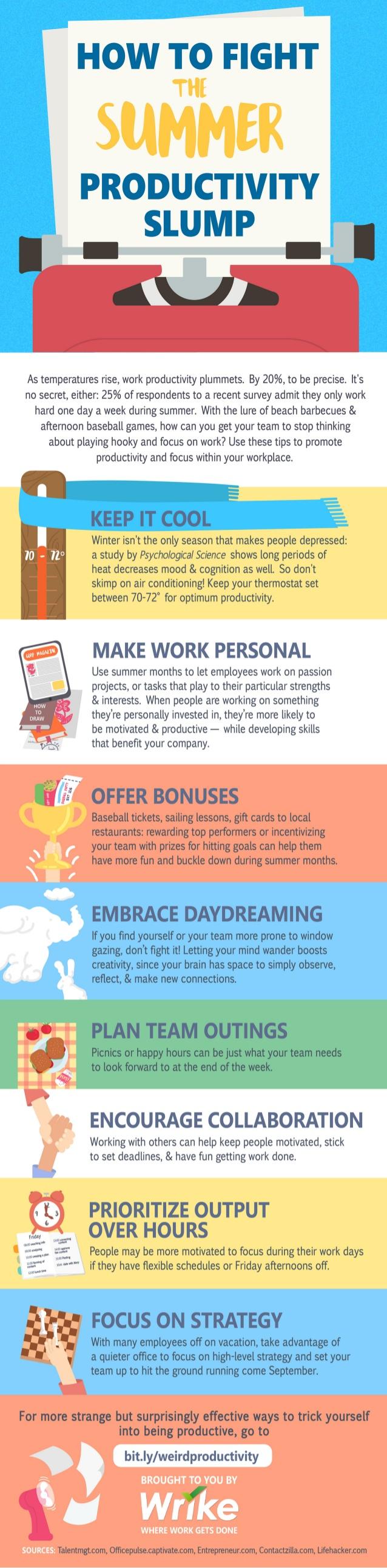 Cómo combatir la caída de productividad en verano