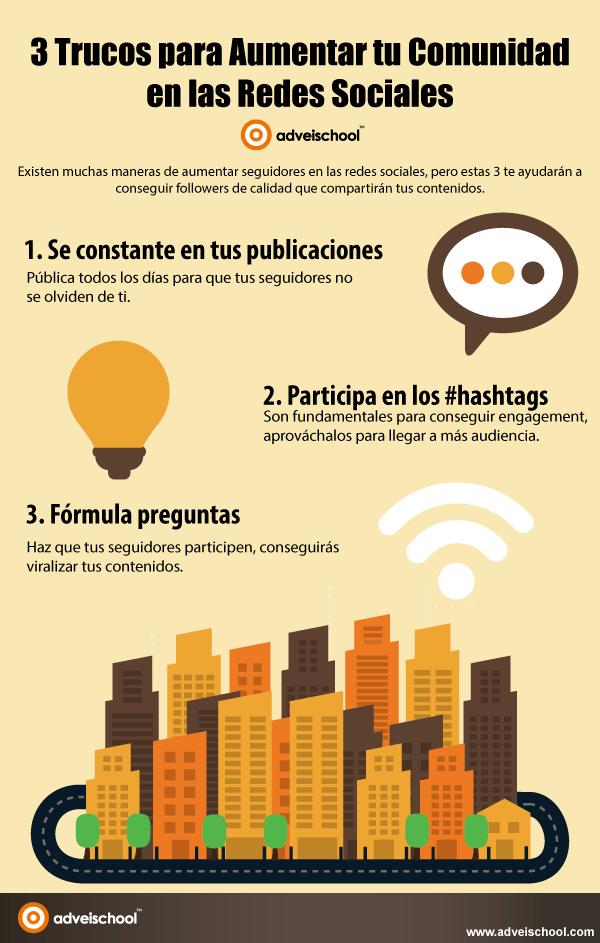 3 Trucos para aumentar tu comunidad en las Redes Sociales