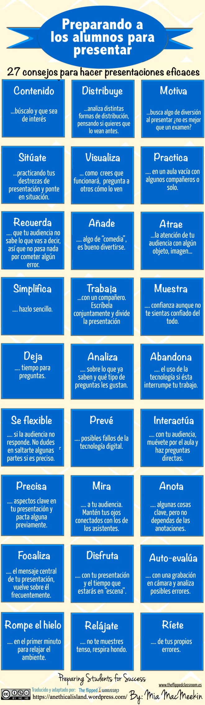 27 consejos para hacer Presentaciones Eficaces