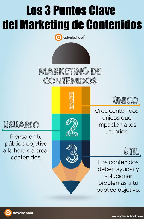 3 puntos clave del Marketing de Contenidos