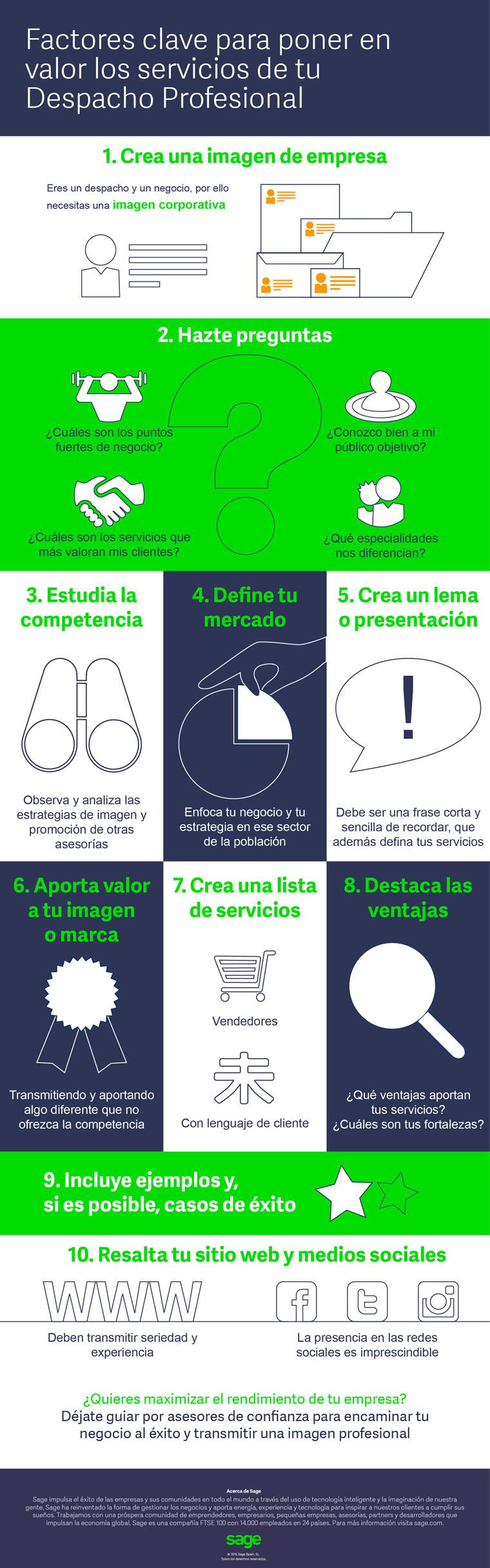 10 factores clave para poner en valor los servicios de tu Despacho Profesional