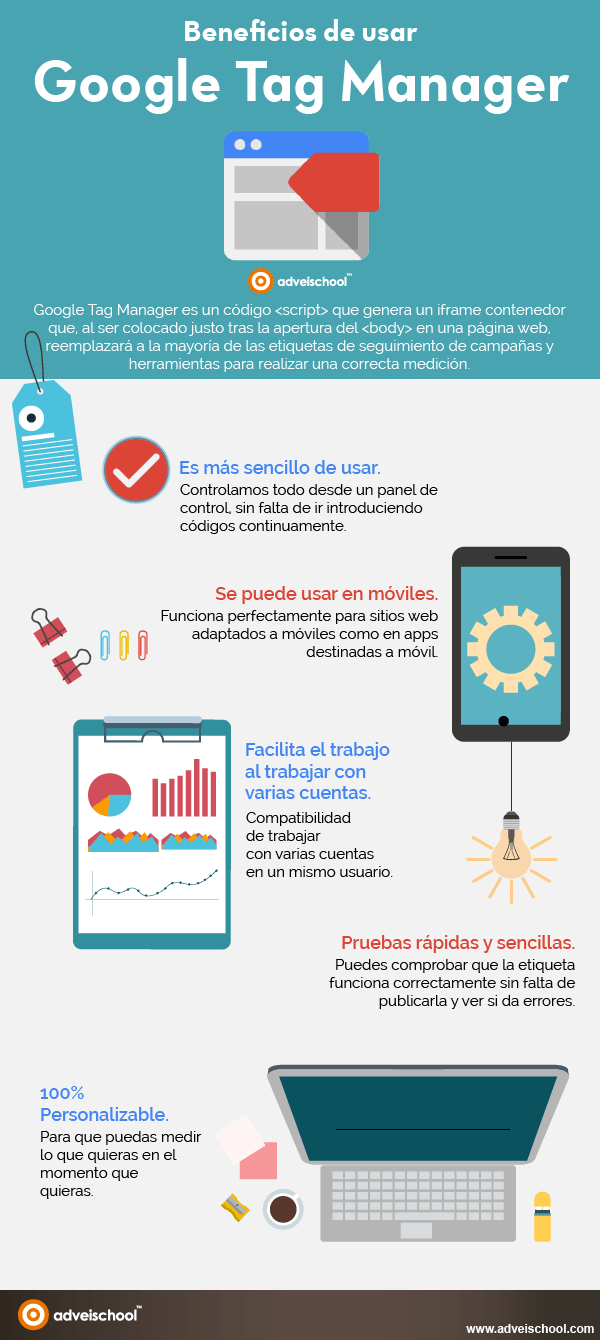 Beneficios de usar Google Tag Manager
