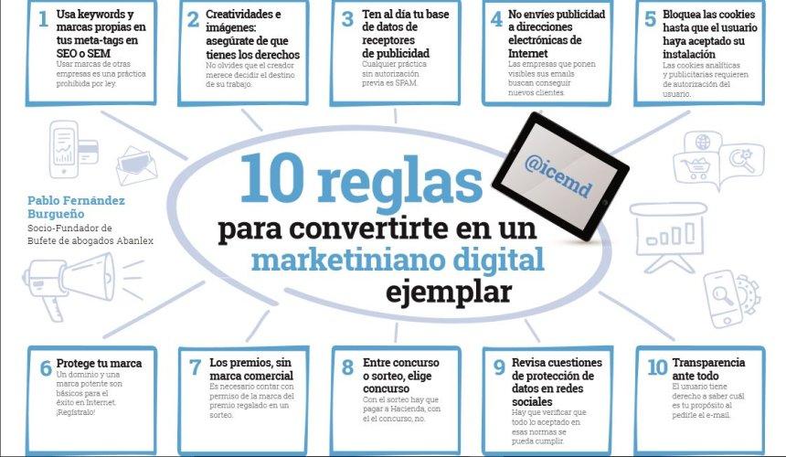 10 reglas para convertirte en un marketiniano digital ejemplar