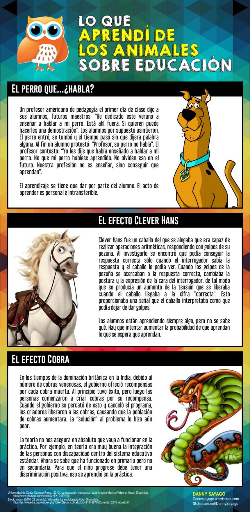 Lo que aprendí de los animales sobre Educación