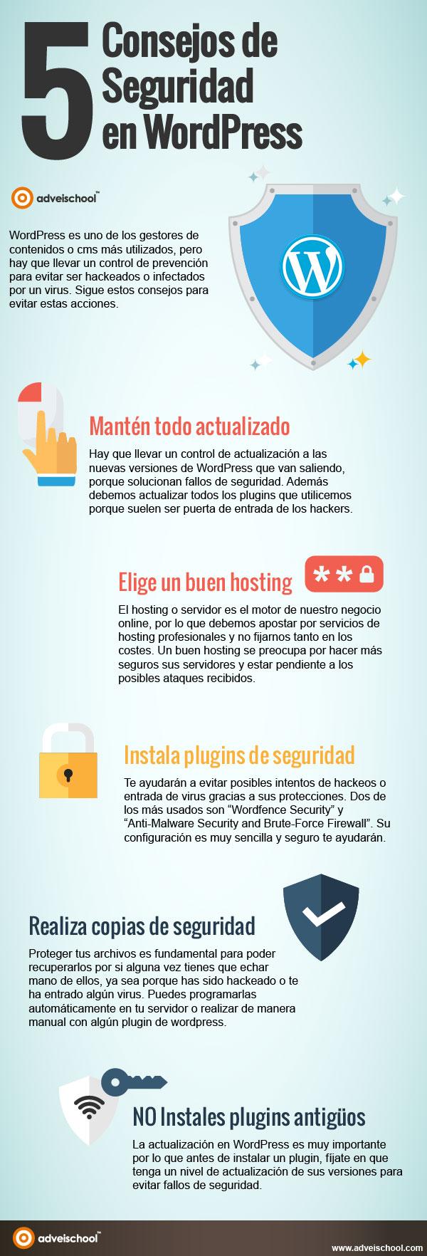 5 consejos de seguridad en WordPress