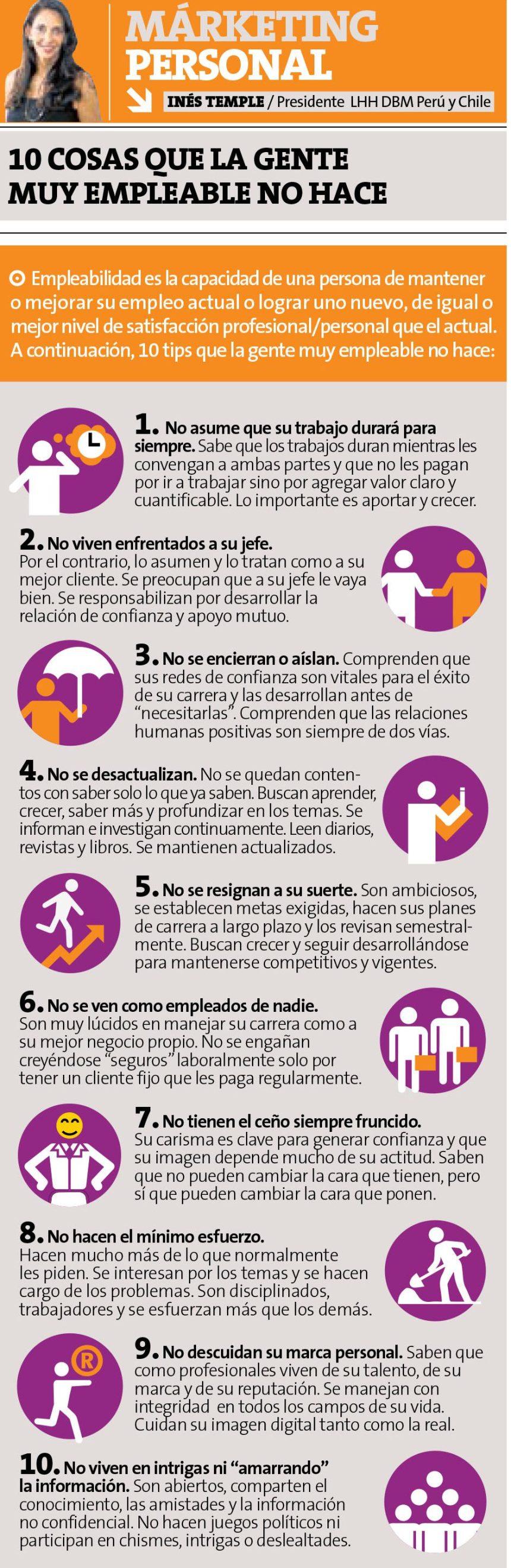 10 cosas que la gente Muy Empleable no hace