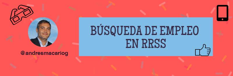 Búsqueda de empleo en RRSS - Andrés Macario