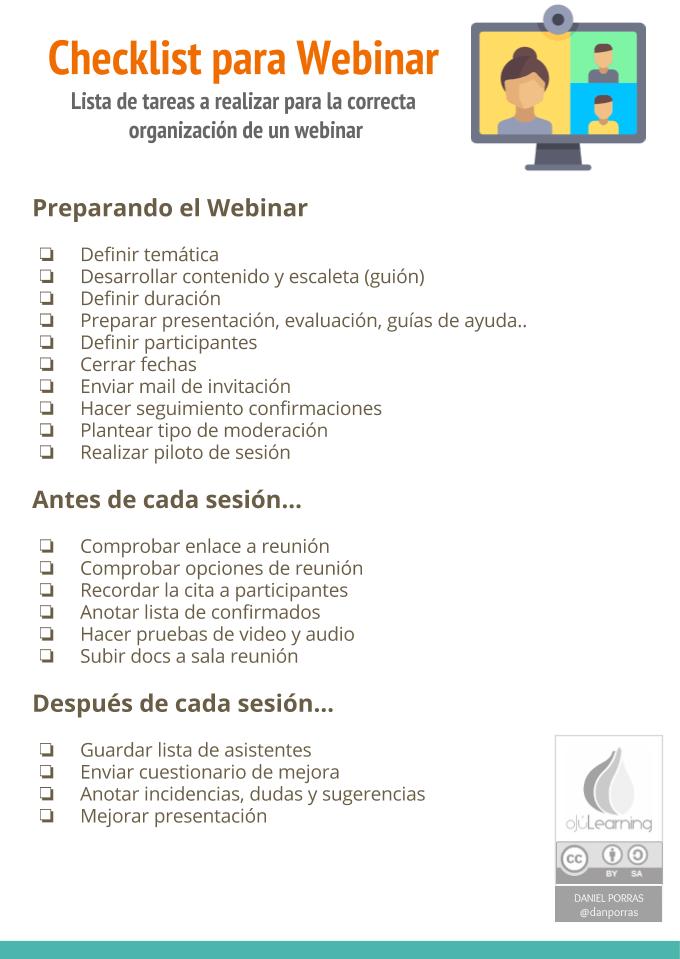 Checklist para Webinar