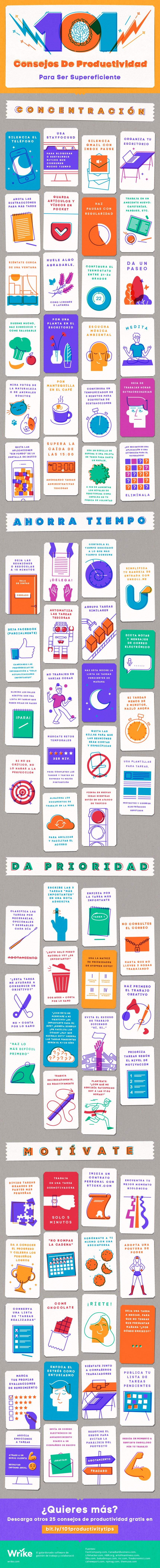 101 consejos de Productividad para ser supereficiente