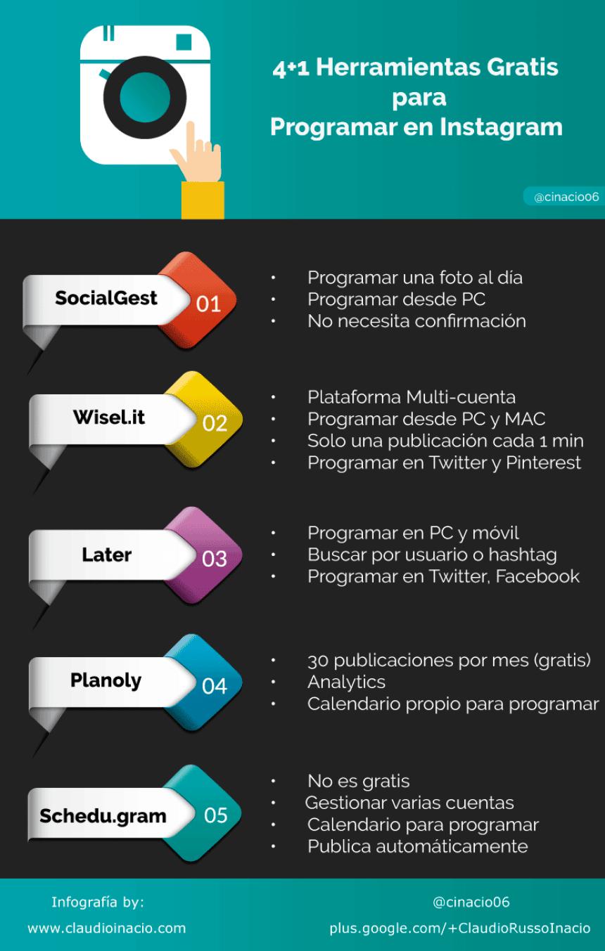 5 herramientas para programar en Instagram