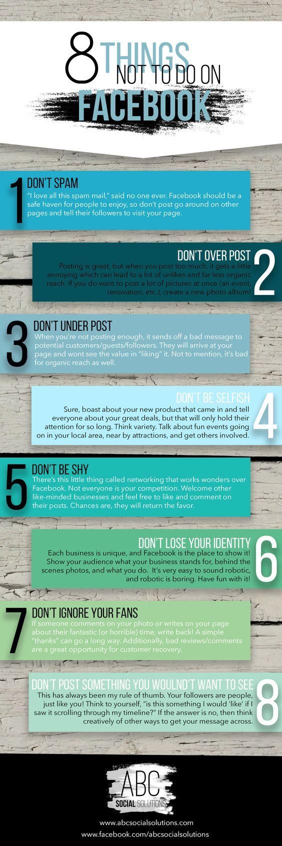 8 cosas que no debes hacer en Facebook