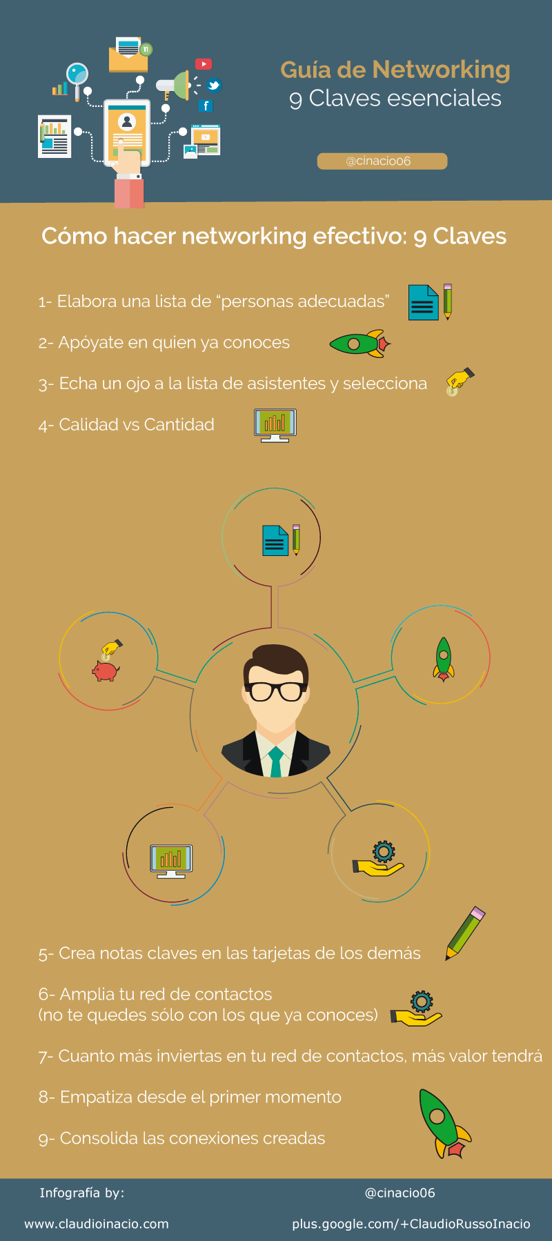 9 claves esenciales para el Networking #infografia #infographic #marketing - TICs y Formación