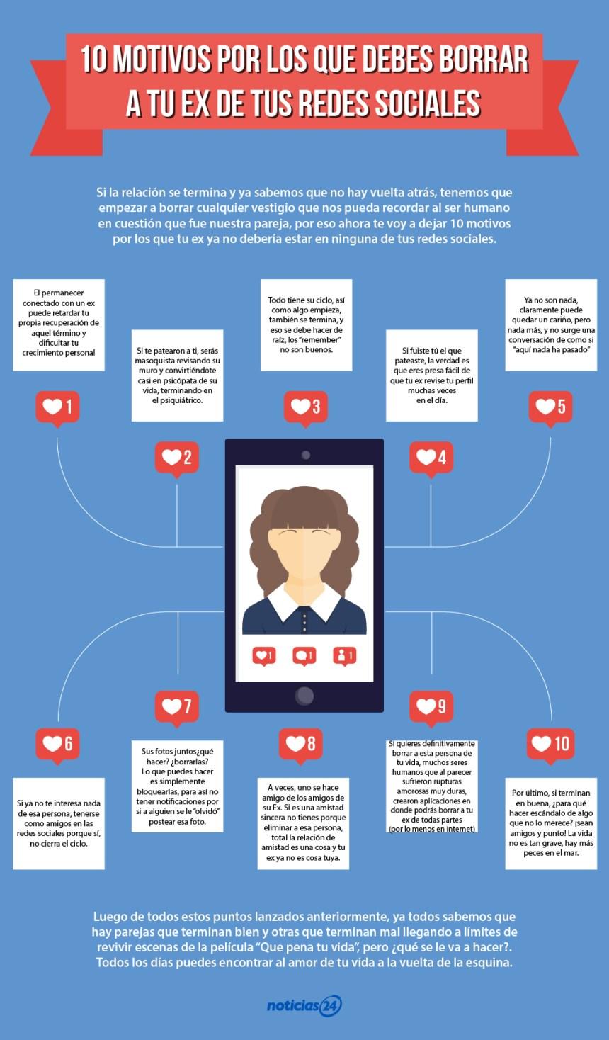 """10 motivos por los que debes dejar de seguir a tus """"ex"""" de las redes sociales"""