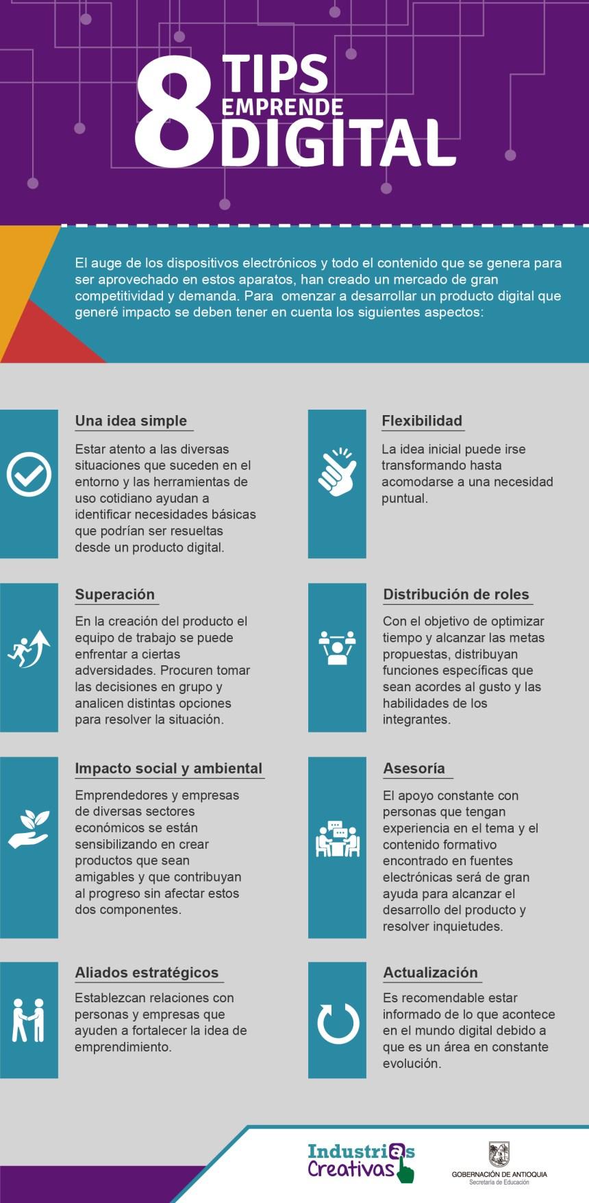8 consejos para el Emprendimiento digital