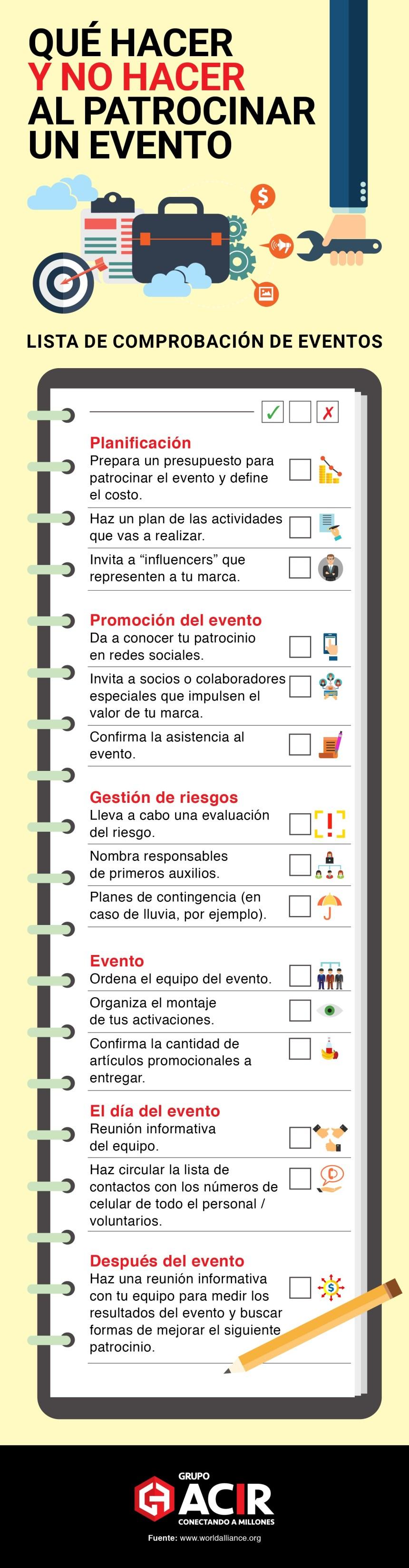 Qué hacer y no hacer al patrocinar un Evento