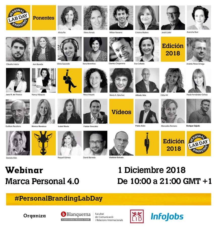 Ponentes del Personal Branding Lab Day 2018