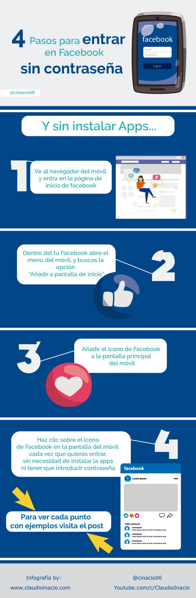 4 pasos para entrar en Facebook sin contraseña