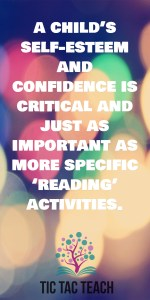 Self Esteem is critical for reading