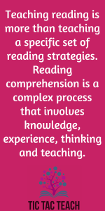 Reading Comprehension is a complex process